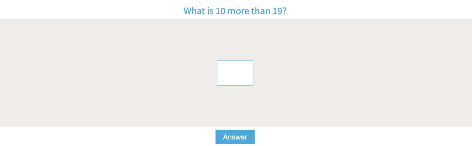 Ten More or Less